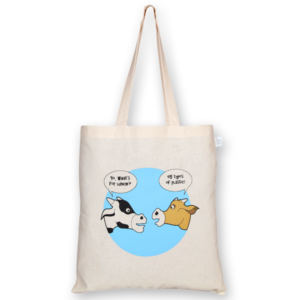 Cotton Tote Bag, What's for dinner - Natural