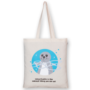 Cotton Tote Bag, Sealiest thing you can do - Natural