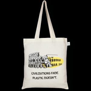 Cotton Tote Bag, Civilizations Fade - Natural