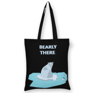 Cotton Tote Bag, Bearly There – BlackCotton Tote Bag, Bearly There – Black_EcoRightBags_1