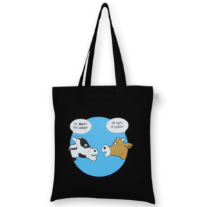 Cotton Tote Bag, What's for dinner – Black_EcoRightBags_1