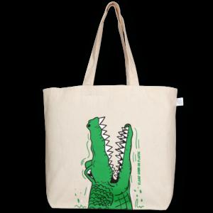EcoRight Canvas Large Tote Bag, Croc - Natural