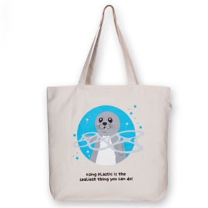 EcoRight Canvas Large Tote Bag, Sealiest thing you can do - Natural