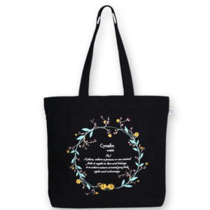 EcoRight Canvas Large Tote Bag, Cyenfin - Black
