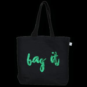 Canvas Large Tote Bag, Bag it! - Black