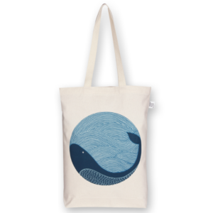 Gusset Tote Bag, Superhero - Natural