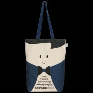 Gusset Tote Bag, Superhero - Natural