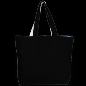 Juton Large Zipper Tote Bag - Black EcoRightt