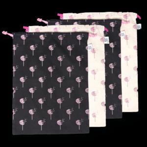 EcoRight Cotton Drawstring Bag, Dandelions - (Pack of 4)
