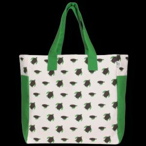 EcoRight Canvas Premium Beach Bag, Turtles - Natural