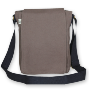 Canvas Cross Body Bag - Grey