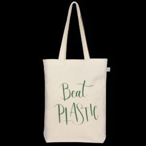 Canvas Gusset tote bag Beat plastic Natural-EcoRight