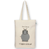Canvas Gusset tote bag Hippocritical Natural-EcoRight