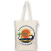 Canvas Gusset tote bag Life's a beach Natural-EcoRight