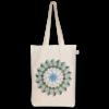 Canvas Gusset tote bag Mandala Natural-EcoRight
