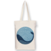 Canvas Gusset tote bag Whale doodle Natural-EcoRight