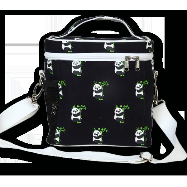 EcoRight Canvas Lunch Bag, Pandas – Blue