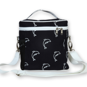 EcoRight Canvas Lunch Bag, Dolphins - Blue