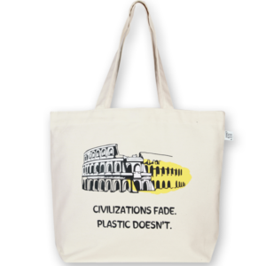 Canvas large tote Bag Civilization Natural-EcoRight