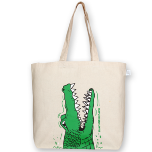Canvas large tote Bag Crocs Natural-EcoRight