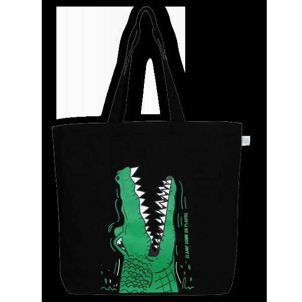 EcoRight Canvas Large Tote Bag, Crocs – Black
