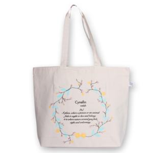 Canvas large tote Bag Cynefin Natural-EcoRight