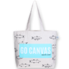 Canvas large tote Bag Go canvas Natural-EcoRight