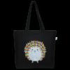 EcoRight Canvas Large Tote Bag, Porcupine Hug - Black