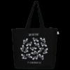 EcoRight Canvas Large Tote Bag, Dog Planet - Black