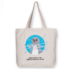 Canvas large tote Bag Sealiest thing ever Natural-EcoRight