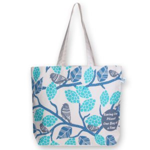 Canvas large tote Bag Sparrows Natural-EcoRight