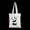 EcoRight Canvas Zipper Tote Bag, Bamboozled Panda - Natural