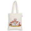 EcoRight Canvas Zipper Tote Bag, Don't be Crabby - Natural