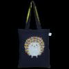 EcoRight Canvas Zipper Tote Bag, Porcupine Hug - Blue