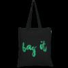 Cotton Tote Bag, Bag it! - Black