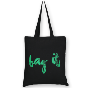 Cotton Tote Bag, Bag it! - Black