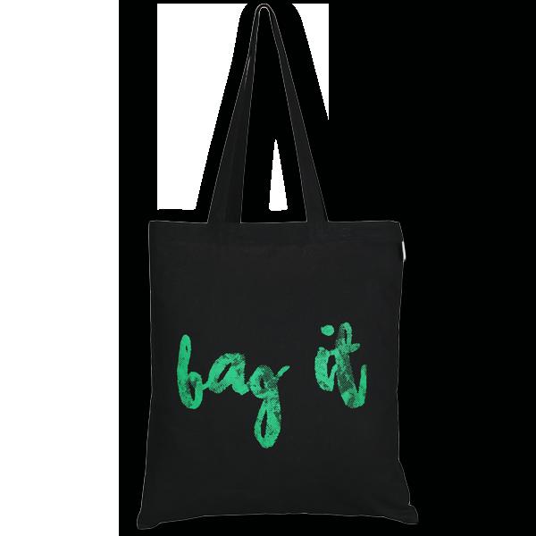 Cotton Tote Bag Bag it Black-EcoRight