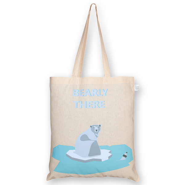 Cotton Tote Bag Bearly there Natural-EcoRight