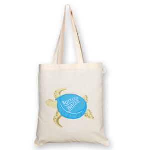 Cotton Tote Bag Bottle cap turtle Natural-EcoRight