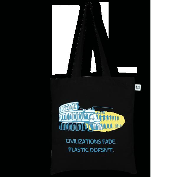 Cotton Tote Bag Civilization Black-EcoRight