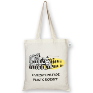 Cotton Tote Bag Civilization Natural-EcoRight