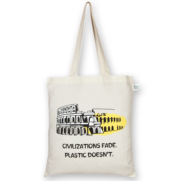Cotton Tote Bag Civilization Natural-EcoRight