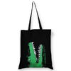 Cotton Tote Bag Crocs Black-EcoRight