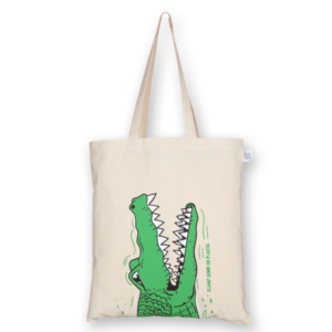 Cotton Tote Bag Crocs Natural-EcoRight