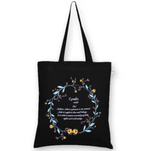 Cotton Tote Bag Cynefin Black-EcoRight