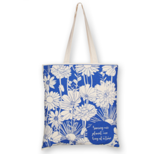 Cotton Tote Bag Floral Natural-EcoRight