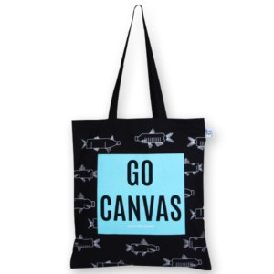 Cotton Tote Bag Go canvas Black-EcoRight