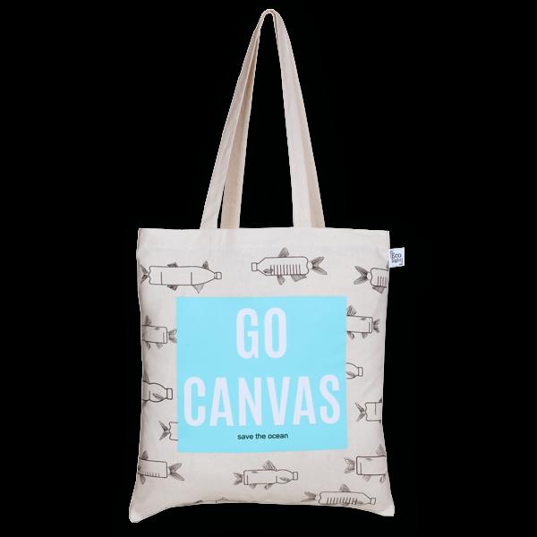 Cotton Tote Bag Go canvas Natural-EcoRight