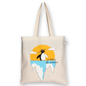 Cotton Tote Bag Hot Penguin Natural-EcoRight