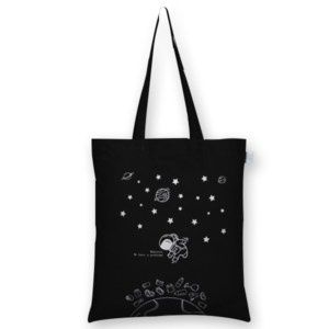 Cotton Tote Bag Houston We Have a Problem Black-EcoRight